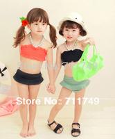 Children Girl Swimwear 2pcs Korean Style Fashion Kids Swimsuit Toddlers Bathers prancha de cabelo meias infantil blancanieves