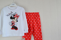 free shipping 100% cotton 1pc retail 2-7 years girls clothing sets new year child