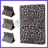 200pcs/lot For Apple iPad mini 2 Luxury Leopard Stand Cover Leather Case