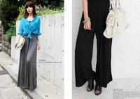women new fashion 2014 summer spring thin wide leg pants fashion plus size women's pants free shipping Retail