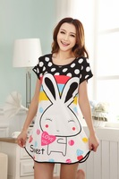 2014 New arrival Sexy Cotton costume Women's Sleep & Lounge 3pcs/lot Girls' Sleep Nightgowns & Sleepshirts O-collar Fee shipping