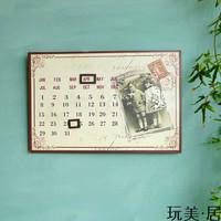 Rustic tieyi calendar home decoration fashion wall magnet nostalgic calendar