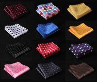 Polka Dot Colors Men Silk Satin Handkerchief Pocket Square Hanky Wedding Party