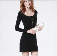 spring 2014 long sleeve women fashion solid women dress /women clothing on hot sales free shipping