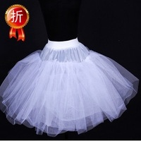 Boneless white cosplay short skirt short wedding dress pannier lolita dress slip