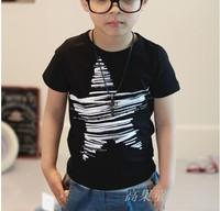 Boys clothes new 2014 children t shirt summer child outerwear star short-sleeve free shipping