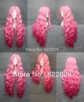 long Utano Prince Sama Pink Anime Cosplay wig curly Wig brazilian human queen Kanekalon Hair Cosplay Wigs