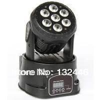 2pcs/lot hot 7x12w rgbw quad mini led wash moving head mini 4in1 led moving head wash stage lighting