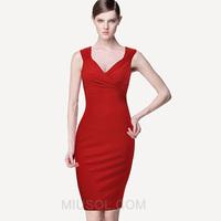Fashion miusol V-neck sexy short-sleeve slim formal dress one-piece dress plus size tank dress female