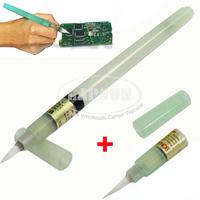 1pc 7mL Flux Fluxing Pen + Extra Brush Head For PCB Soldering Solder Assistant Tool Applicator Brush Head No Clean BON-102