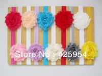 Hot New Hair Silk Edge Flowers Children Headband / Baby Headwear /Hair Accessories 20pcs/lot Multicolor mixed Free shipping