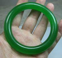 Details about NATURE BEAUTIFUL GREEN JADE JADEITE BRACELET BANGLE 61MM
