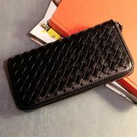2014 new woman's purse bills folder Wallet color : black red white orange free shipping