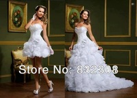 Elegant Two Pieces Beautiful Sweetheart Flower A-line Wedding Dress