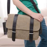 2014 new men's canvas shoulder bag diagonal package free shipping