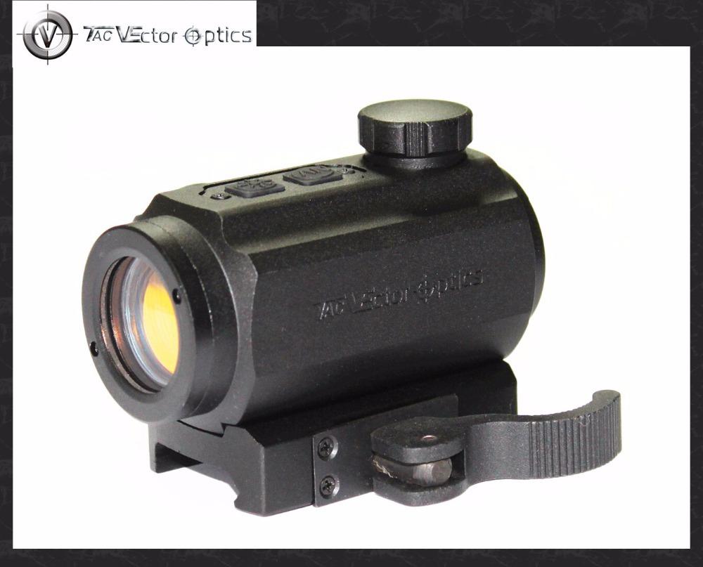 Vector Optics Torrent 1x20 Red Infrared IR Dot Sight Scope with 20mm Weaver QD Mount Base