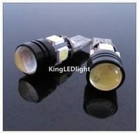 Free Shipping! 10pcs White Car Auto LED T10 W5W 5 led smd 4pcs 5050SMD+1pcs1.5W Wedge CANBUS OBC ERROR FREE led Light Bulb Lamp