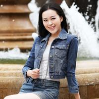 FS-2057 Spring Summer 2014 Short Denim Jacket For Women Fashion Jeans Outwear Female S M L XL