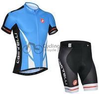 Hot sale! Castelli #1 team short sleeve cycling jersey shorts set, bike bicycle wear clothes jerseys pants,Hot sale!