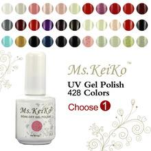 1PCS Soak-off Led UV Gel Nail Polish 428 Colors (You choose 1 color ) gelishgel Shellac 15ml 0.5oz(China (Mainland))