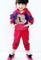 free shipping children clothing sets girls and boys clothes set size 90-120 spring wear
