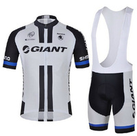 Quick Delivery! 2014 giant Cycling Jersey short sleeve and bicicleta bib shorts/ ropa ciclismo clothing men  NX#075!!