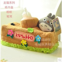 Free shipping special creative Totoro cartoon plush Vehicle household paper towel pumping boxes 1pc