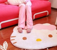 good quality 75cm*60cm s & carpets cute hello kitty door floor mat for children's adults' living room free shipping