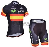 2014 NEW! Movistar #1 team short sleeve cycling jersey shorts set, bike bicycle wear clothes jerseys pants,Free shipping!