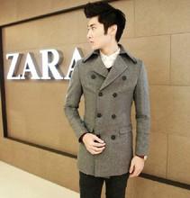 New promotion Spring men's woolen coat jacket,Casual Stylish Design Slim Fit Blazers Coat Suit Jacket/men overcoat(China (Mainland))