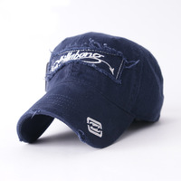 Spring 2014 Summer Fashion Frayed Snapack Outdoor Fashion Leisure Pure Cotton Genuine Brand Men's hats Baseball caps Block sun