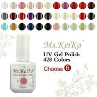 6PCS Gel Nail Polish in 168 Colors  Soak-off UV Led gelishgel Shellac Hot sale Shellac free shipping