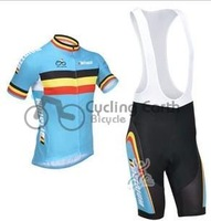 Free shipping! Belgium 2013 short sleeve cycling jersey bib shorts, bike bicycle wear clothes jerseys bib pants set