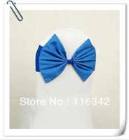 Factory Price 2014 New Product  Decorative Chair Covers Chair Cover Bow  Chair Cover Bowknot For Wedding