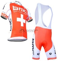 2014 NEW! BMC team short sleeve cycling jersey bib shorts set bike bicycle wear clothes jersey bib pants,Free shipping!
