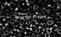 1000pcs 4.5 mm Hair Extension Microringe  Micro links Rings Beads Links with Screws thread  aluminium 1# black