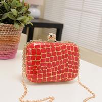 2014  women`s stone pattern vintage chain Handbags messenger small evening bag  banquet,free shipping HK