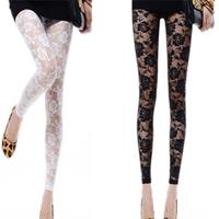 Lace legging rose thin cutout legging