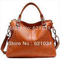 Hot sale 100% Genuine leather women bags 2014 handbag cowhide women bags  totes designer handbag purse 8 colors Free shipping