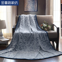 Textile thin blanket lounged blanket double spring and autumn air conditioning blanket 200 230 flower wool blanket