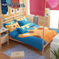 Textile 100% cotton cartoon child piece bedding set 100% personality cotton fitted sheet bed sheets
