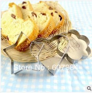 DIY Frete Grátis Novo 15pcs / set Coração Flor Formato de Estrela Cookie Cutter Biscuit molde de metal decoração do bolo(China (Mainland))