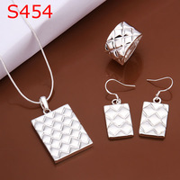 925 silver jewelry set, fashion jewelry,Nickle free antiallergic pineapple line jewelry set S454 vel qdrr