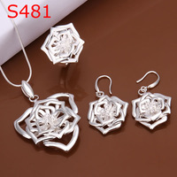 925 silver jewelry set, fashion jewelry,Nickle free antiallergic silver fashion jewelry set S481 tag hhfu