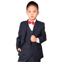 Baby blazers New Child formal dress quality 2014 children's clothing blazer set male child stripe suit  boy blazers child suits