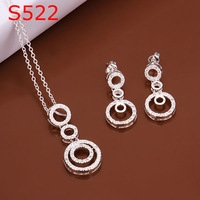 925 silver jewelry set, fashion jewelry,Nickle free antiallergic silver fashion jewelry set KDS522 jzc bxvd