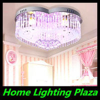 New led ceiling lighting crystal lamps living room bedroom den romantic heart-shaped wedding room 58cm