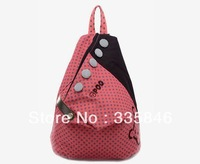 Hot sales Canvas backpack bags solid color with dot fashion school bags both for girl and boy
