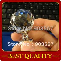 wholesale 30mm crystal handle,cabinet handle furniture handles Cabinet Knobs Zinc Alloy Drawer Pulls crystal Knobs