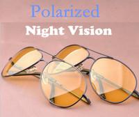 2014 New Fashion Metal Night Vision Glasses/Goggles Polarized Sunglasses Men's Driving Glasses Cycling Eyewear+Box Free Shipping